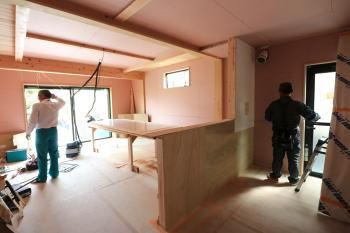 現場様子|福岡県太宰府市の木造りの家