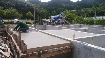 基礎工事|〜ふるさとへ帰る〜大自然と共に暮らす 薪ストーブのある住まい-大分県日田市-