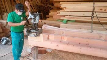 建て方に向けて|福岡県粕屋郡の木造りの家