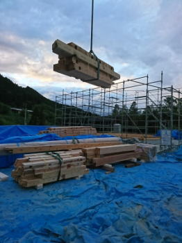 建て方前準備|大分県日田市の木造りの家