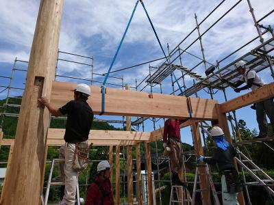 主要構造材|大分県日田市の木造りの家