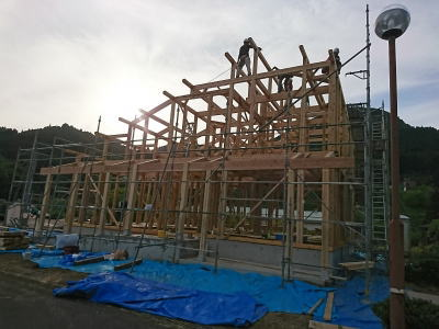建て方|大分県日田市の木造りの家