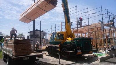 建て方|福岡県粕屋郡の木造りの家