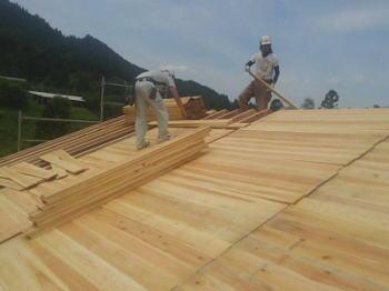 建て方2日目|大分県日田市の木造りの家