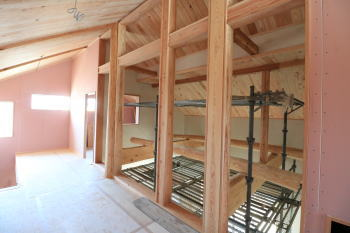 現場の様子|福岡県筑紫野市の木造りの家