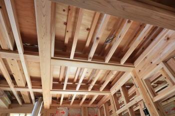 現場の様子|福岡県粕屋郡の木造りの家