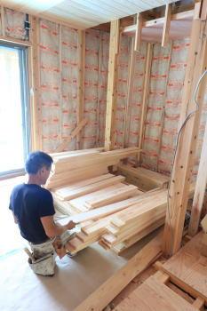 現場の様子|大分県日田市の木造りの家