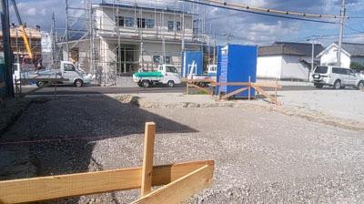 基礎工事開始!|暮らしの変化にも対応 健康を考えたシンプルな住まい-大分県日田市-