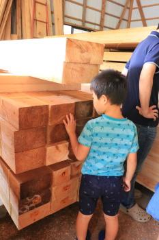 我が家の構造材見学|暮らしの変化にも対応 健康を考えたシンプルな住まい-大分県日田市-