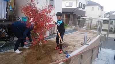 外構工事|福岡県筑紫野市の木造りの家