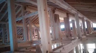 屋根下地|熊本県菊池市の木造りの家