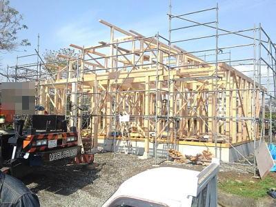 建て方|熊本県菊池市の木造りの家