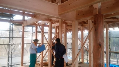 上棟式後|熊本県菊池市の木造りの家
