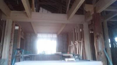 現場の様子 熊本県菊池市の木造りの家