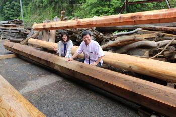 大黒柱|大分県湯布院の木造りの家