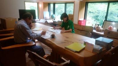 手造り建具打ち合わせ|熊本県菊池市の木造りの家