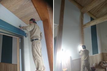 電気工事|地震・台風に強い!自然丸太の強度を活かした柱と梁の住まい-熊本県菊池市-