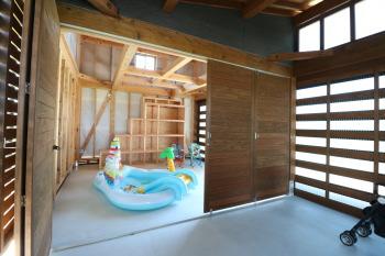 ガレージ兼倉庫(多目的空間)が完成!|木造りの家フォーユー