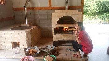 カマドとピザ窯の火入れ式!|〜ふるさとへ帰る〜大自然と共に暮らす 薪ストーブのある住まい-大分県日田市-