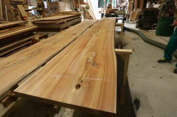 キッチンカウンター材|大分県由布市の木造りの家
