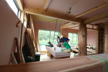 現場へ|熊本県阿蘇市の木造の家