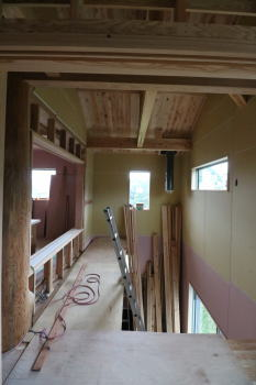 現場へ|熊本県阿蘇市の木造りの家
