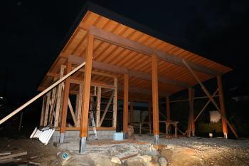 ガレージ工事|熊本県菊池市の木造りの家