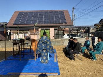 福岡県中間市o様邸地鎮祭!|福岡県中間市の木造りの家
