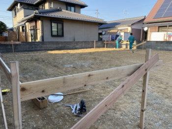 遣り方作業!|福岡県中間市の木造りの家