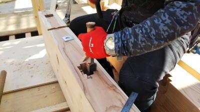 建て方 福岡市南区の木造りの家