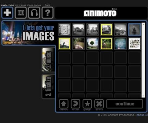 イメージの確認、順序変更