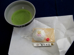 茶菓子・お抹茶