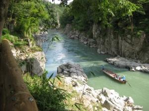 天竜峡、川下り舟