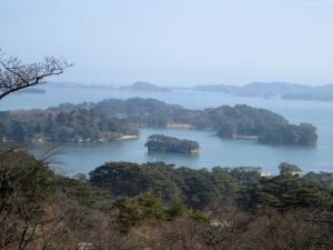 公園展望台から見た松島湾