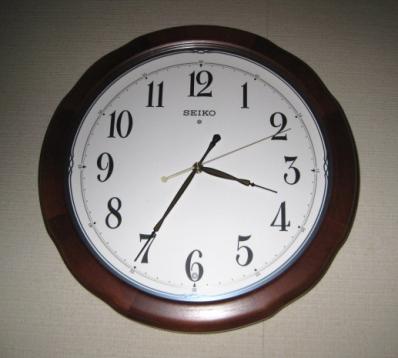 電波時計、壁掛用