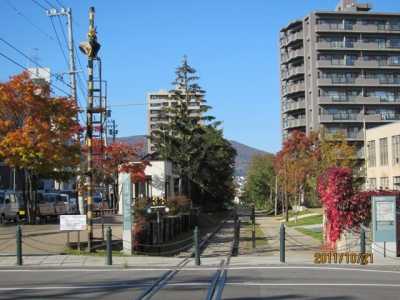 北海道最古の鉄路「手宮線」跡