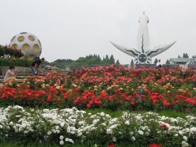 平和のバラ園,月世界モニュメント,太陽の塔