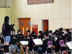 吹奏学部の指揮