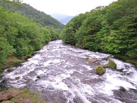 龍頭橋から見た龍頭ノ滝