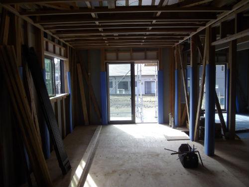 施工中1階寝室