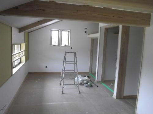施工中二階子供室