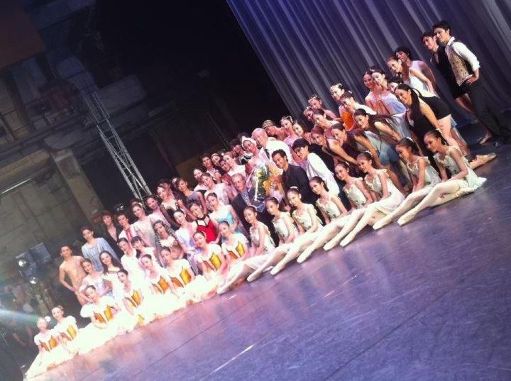 終演後のステージ
