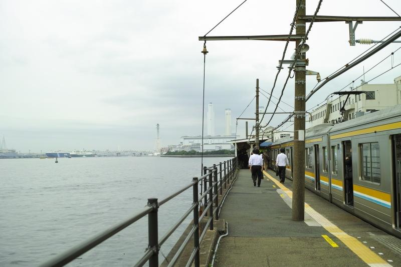 海芝浦駅にて.JPG
