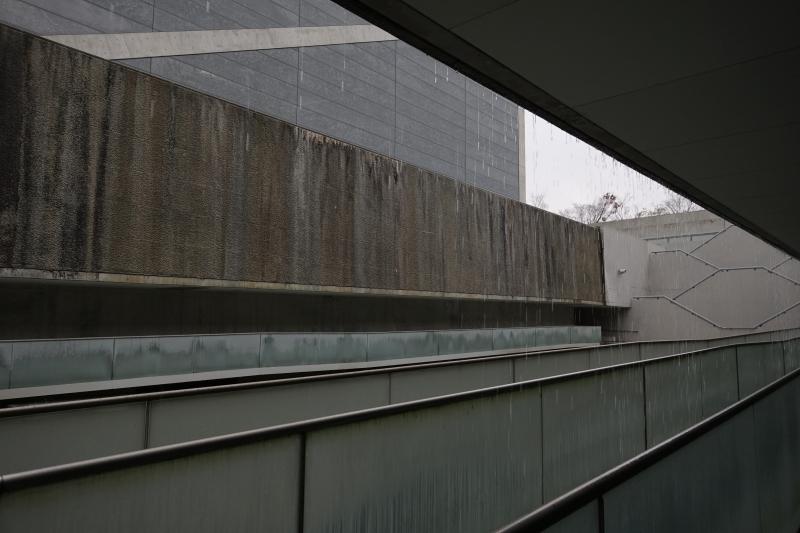 狭山池博物館 雨滴る