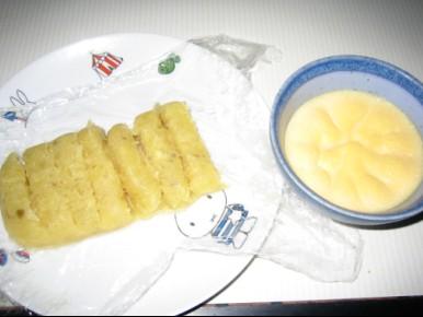 芋餅&プリン