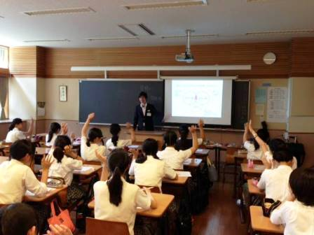東京田園調布学園おしゃれファッションの授業、土曜日 学校風景