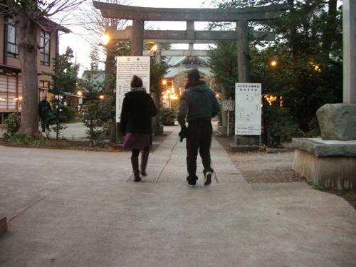 今年の飛躍を願って、おなじみ鷺宮八幡神社に初詣。