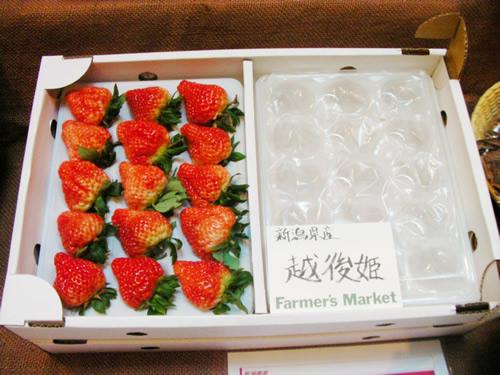 デリケートすぎて関東ではまだ流通していない「越後姫」。繊細で上品な甘さが印象的。