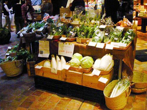 完全有機無農薬がこだわり。寒い中、収穫された野菜は甘さが際立っていました。