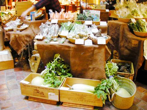 冬だけに根菜が中心。どれも力強い!